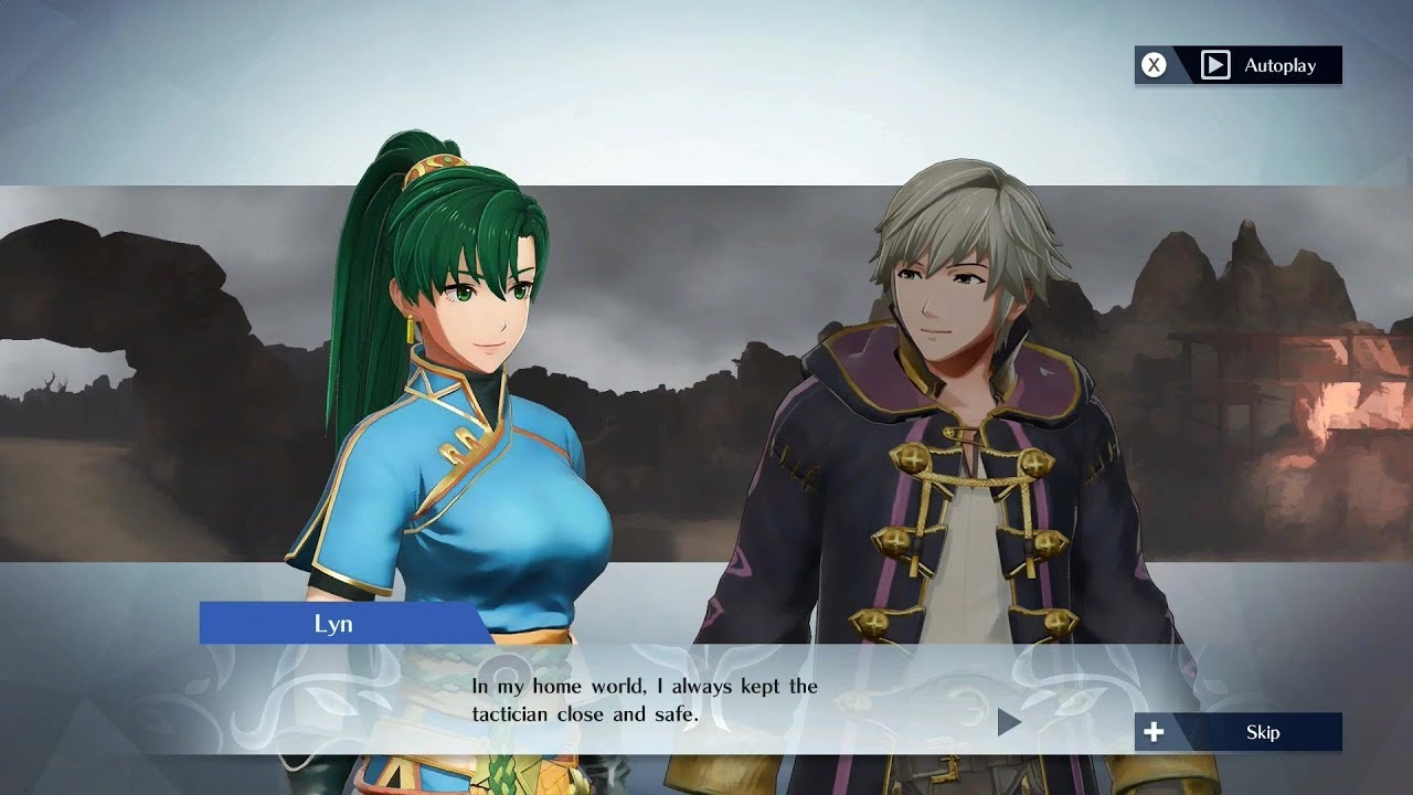 Fire Emblem Warriors - Lyn & Robin (M/F) Support Conversation - YouTube
