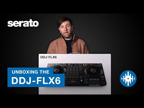 Pioneer DJ DDJ-FLX6 Unboxing | First look with Serato