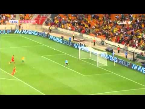 Bernard Parker Moments South Africa - Spain 20/11/13