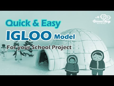 DIY Igloo Model for your school project – Easy Igloo house model making video for kids at home
