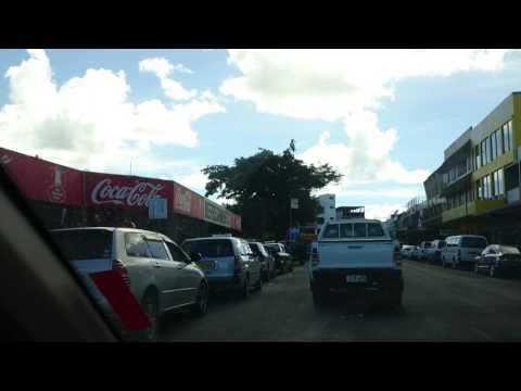 Driving in Lautoka, Fiji 2017