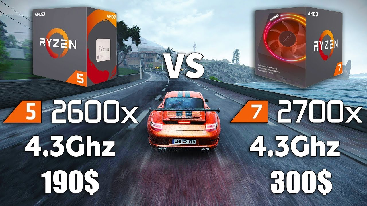 Ryzen 5 2600x Vs Ryzen 7 2700x Test In 8 Games YouTube