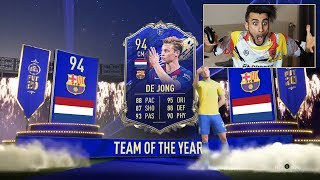 😍🚨DE JOOOOONG!! PACK OPENING CENTROCAMPISTI TOTY | FIFA 20