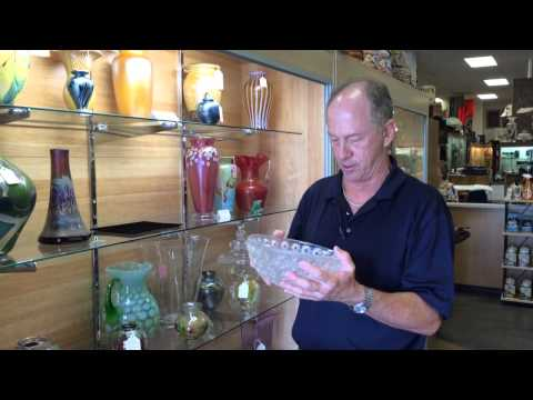"We Buy Lalique Nemours 10"" Crystal bowls At Gannon""s Antiques"