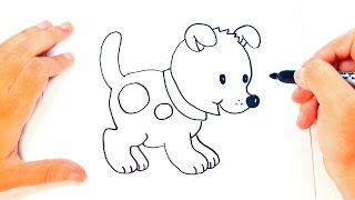 How to draw a Puppy for kids | Puppy Drawing Lesson Step by Step
