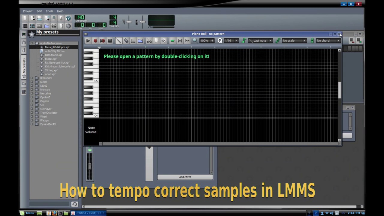 How to Tempo Correct Samples in LMMS - YouTube