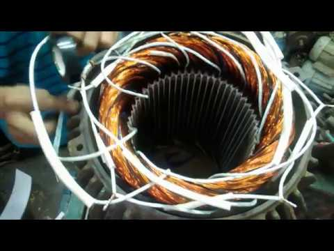 54 slot 30 Kw Three Phase Induction Motor Winding Connection - YouTube