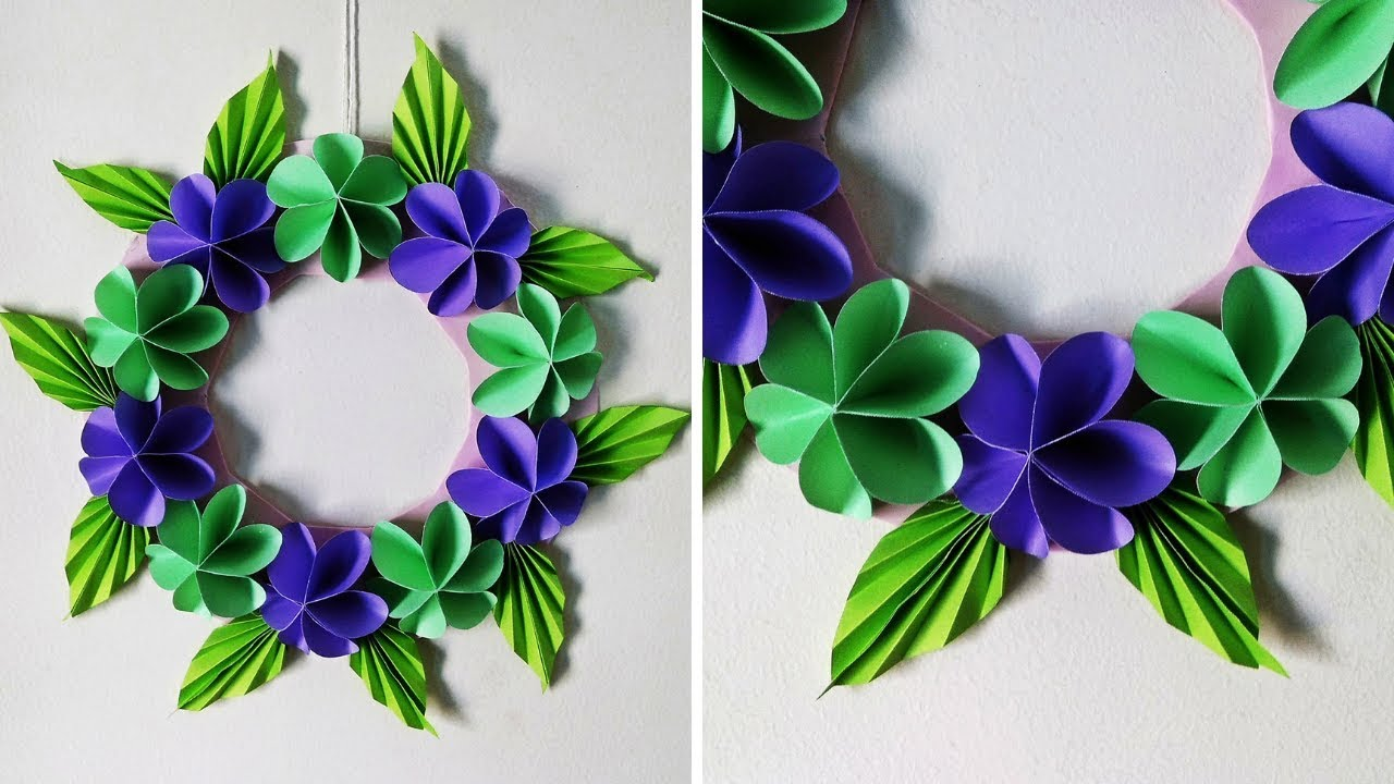 DIY Paper Flower Wall Hanging | Simple Home Decor | Wall ...