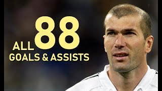 Zinedine Zidane All 88 Goals & Assists For Real Madrid