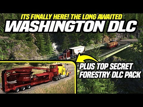 SECRET FORESTRY DLC UNVEILED LIVE !! | WASHINGTON DLC RIDEALONG #1 | AMERICAN TRUCK SIMULATOR