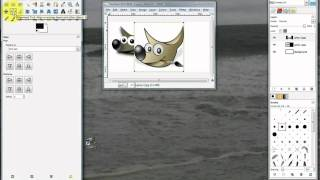 make pictures side by side using free gimp 2 6