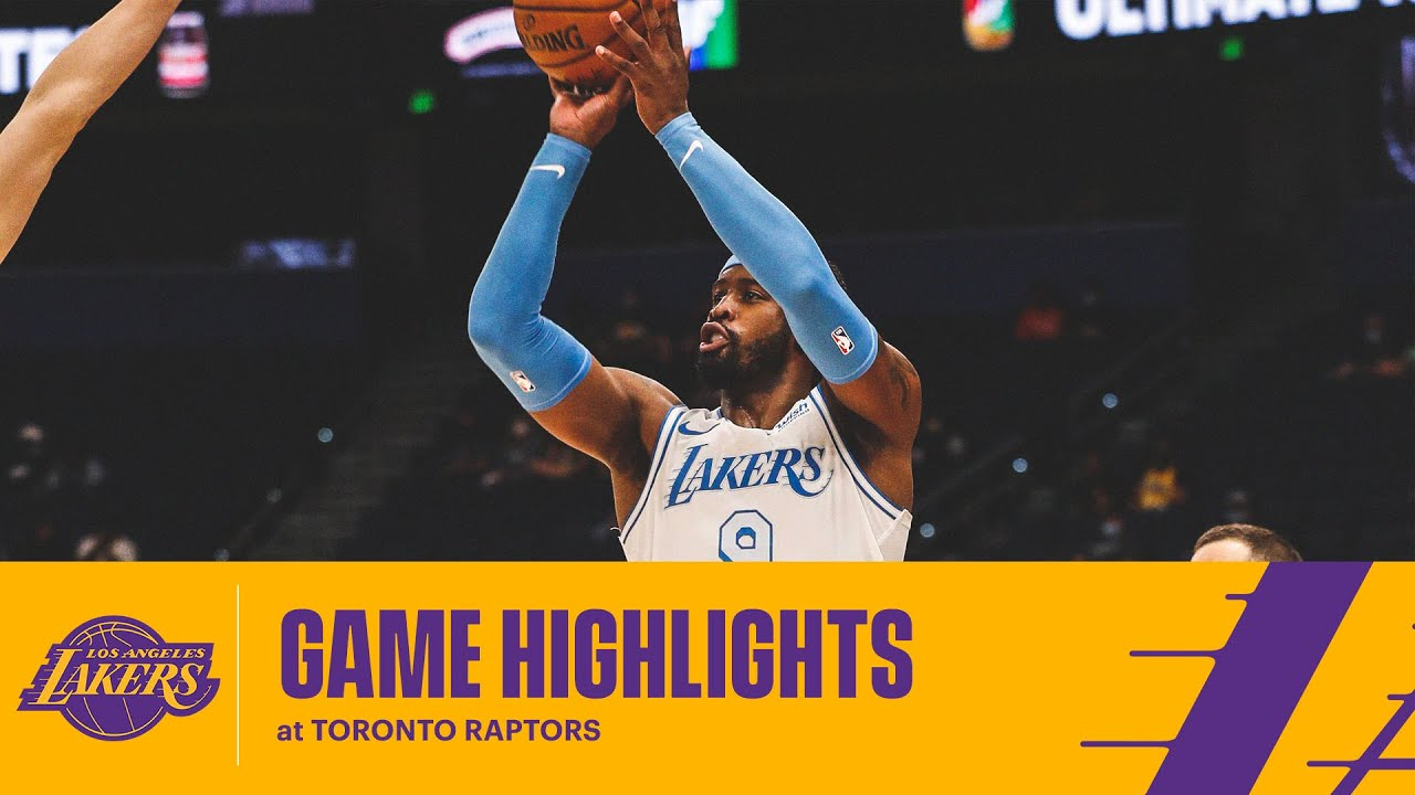 HIGHLIGHTS | Lakers Knock Down 18 3-Pointers at Toronto Raptors - YouTube