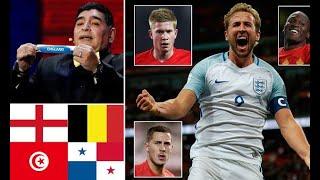 Hot News -  England's World Cup 2018 group Belgium, Tunisia and Panama