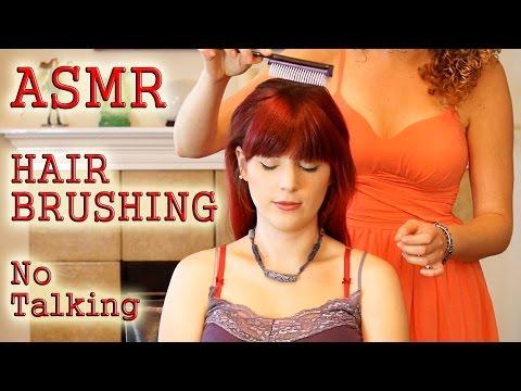 ♥ Wow! ASMR Hair Brushing Bliss!, Head Massage W/ Hair Play, No Talking, 3d Binaural Relaxation ♥
