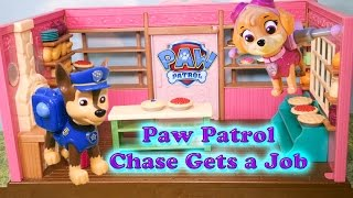 PAW PATROL Nickelodeon Paw Patrol Chase gets a Job a Paw Patrol Video Toy Parody