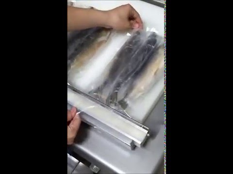 TAIWAN YIZUO TY 760 vacuum packaging machine to pack fishes