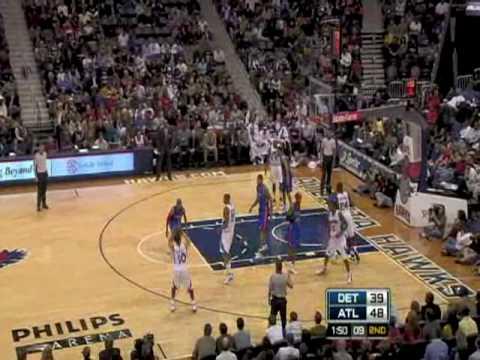 Pistons 78 - 85 Hawks (Season 2008-2009)