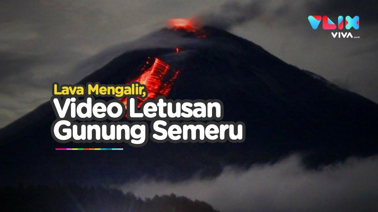Detik Detik Gunung Semeru Meletus Lahar Panas Menjalar Cepat Youtube