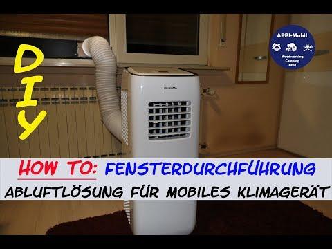 HOW TO: Fensterdurchführung Klimaschlauch  I Abluft für mobiles Klimagerät