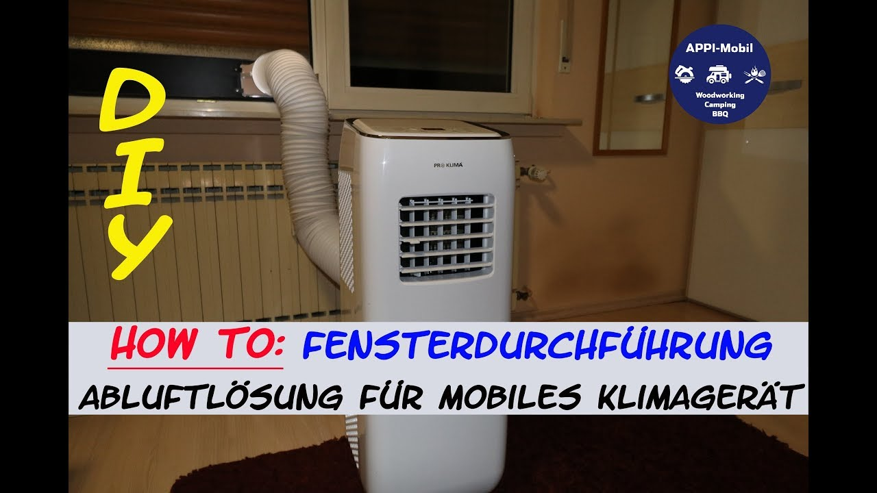 how to fensterdurchf hrung klimaschlauch i abluft f r mobiles klimager t youtube. Black Bedroom Furniture Sets. Home Design Ideas