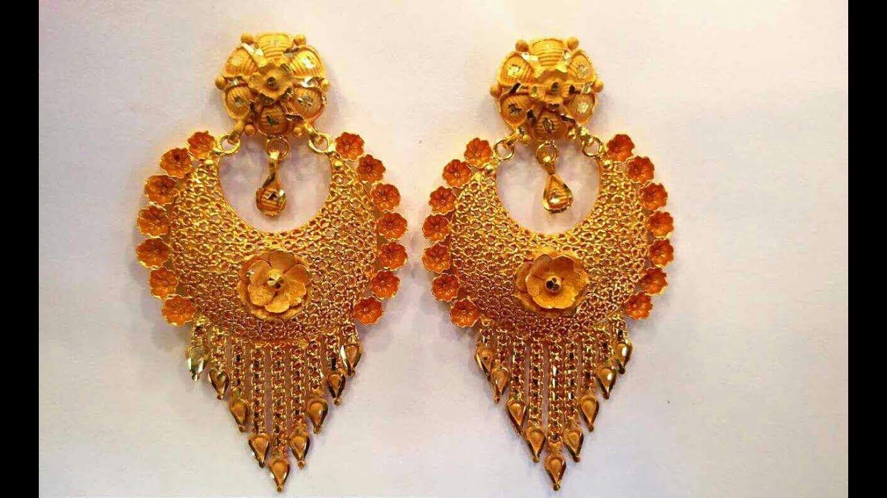 Gold Earrings Designs Latest Collection - YouTube