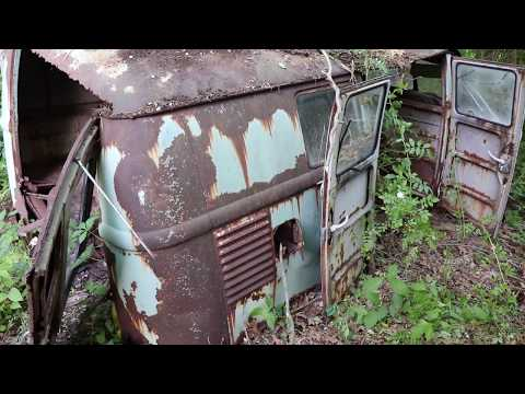 1963 VW KOMBI : Vw Bus Rescue : found sitting in the woods for over 40 years.