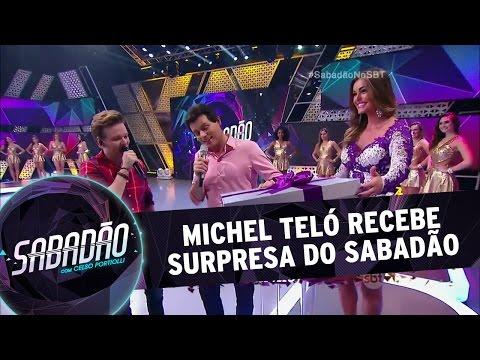 Sabadão Com Celso Portiolli (16/04/16) - Michel Teló Recebe Uma Surpresa Do Sabadão