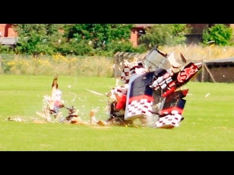 AMAZING RC PLANE CRASH - MASSIVE 68% PITTS CHALLENGER BIPLANE TOTALY DESTROYED ! - COSFORD - 2016