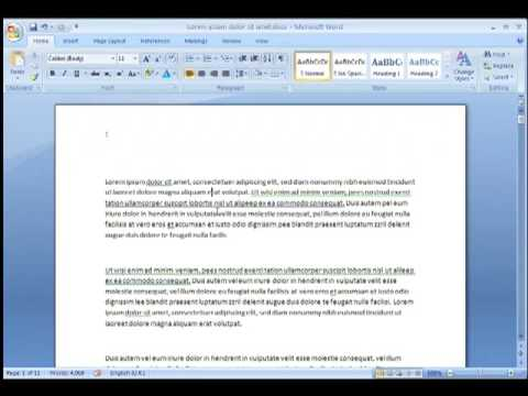 how to put page number in word 2007
