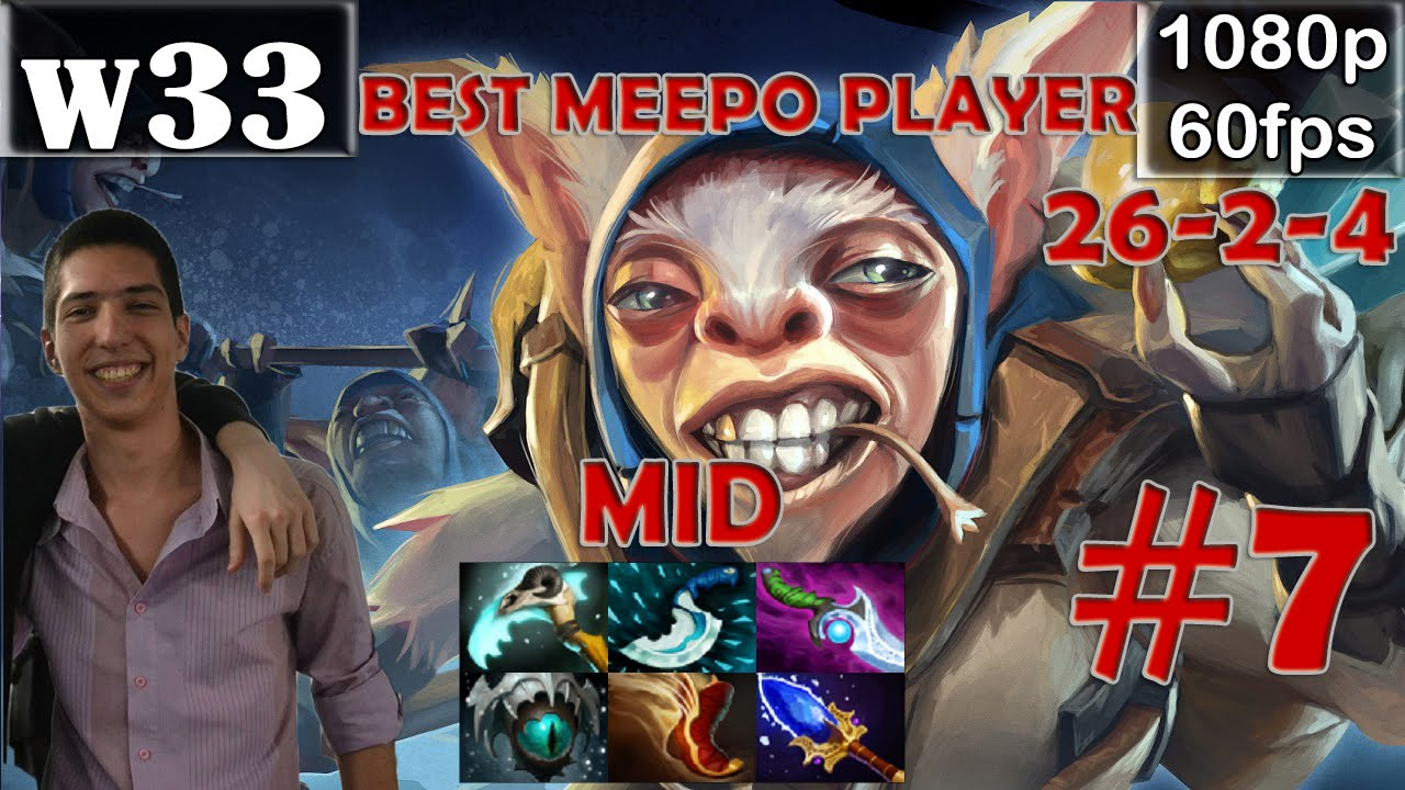 w33 best meepo player meepo mid dota 2 pro mmr gameplay 7