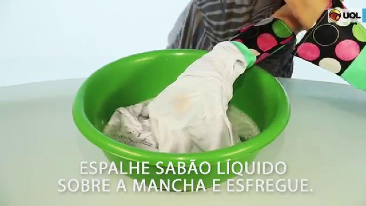como tirar molho de tomate de roupa