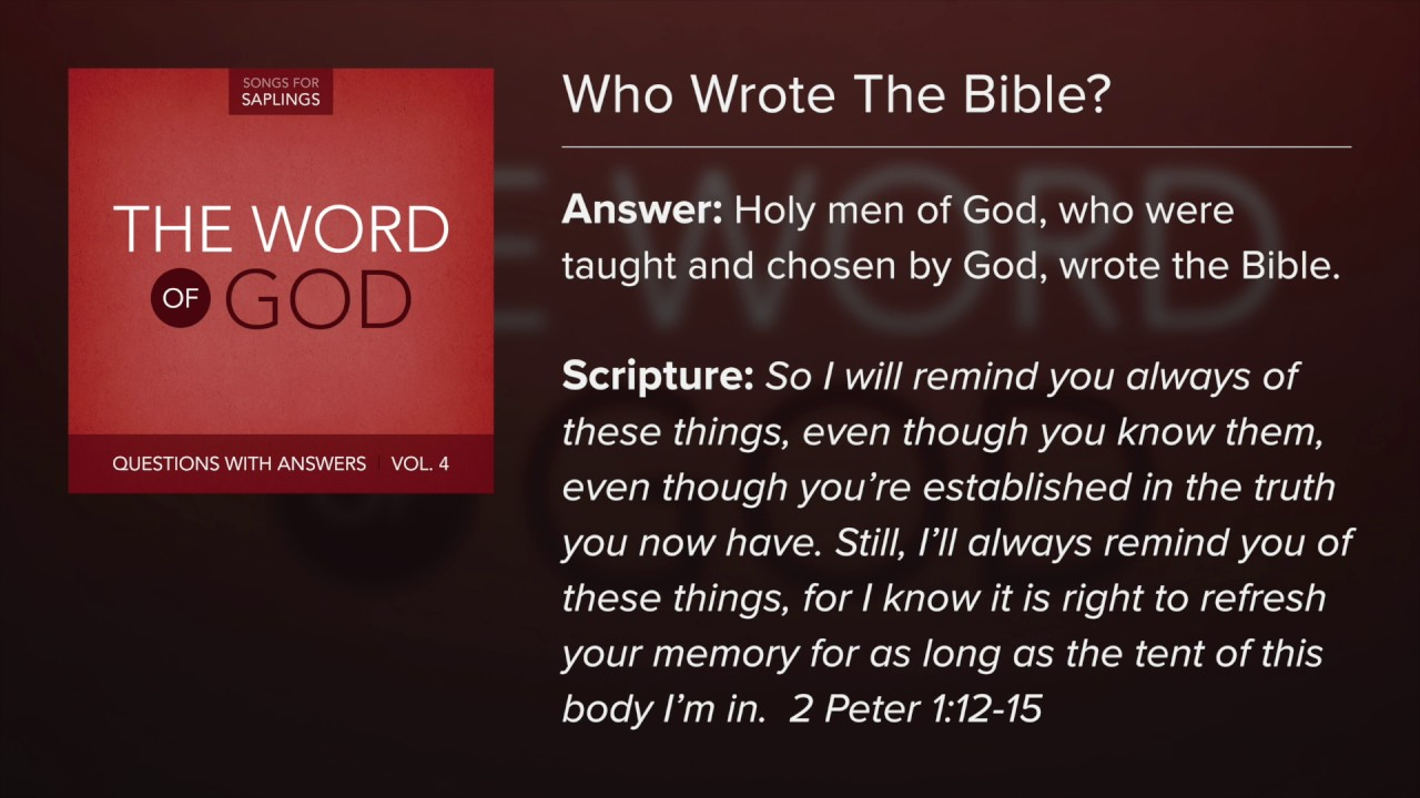 12  Who Wrote The Bible? - Questions with Answers (Lyric Video) by Dana  Dirksen