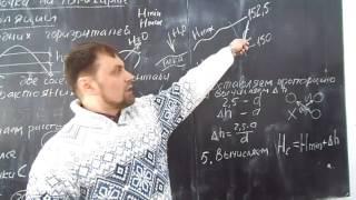 Определение высоты точки между горизонталями на топографической карте Д-11 2.03.17