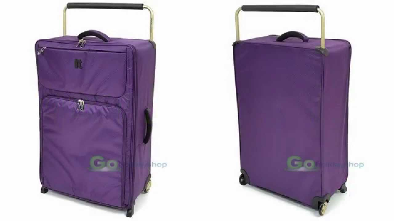 Go Holiday Shop - IT Luggage, The World's Lightest Suitcases - YouTube