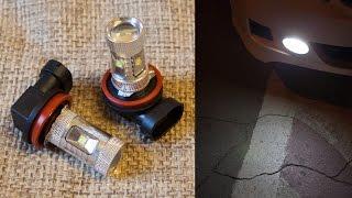 Распаковываю и показываю как светят. LED лампы H11 30W (Реальное потребление 3W!)(, 2015-09-08T16:59:55.000Z)