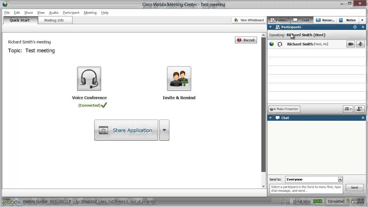 Record a Meeting in WebEx YouTube