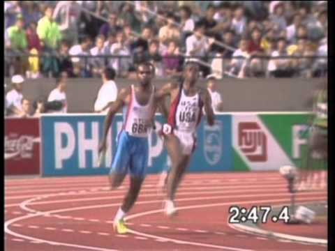 GBvs.USA.4x400m.1991- World Championships,Tokyo