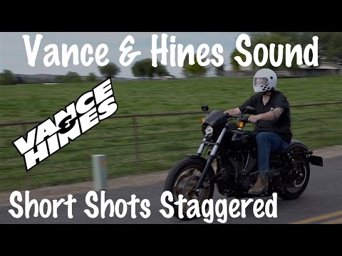 Sound of Vance & Hines Shortshots Staggered Exhaust on Harley | Comparison & Review