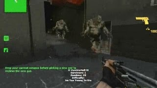 Counter Strike Source gameplay video with the Zombie Hell Mod