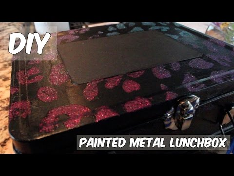 DIY Back-to-School | Painted Metal Lunchbox
