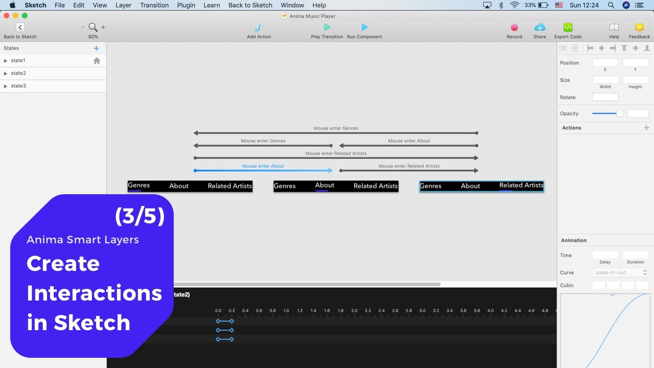 Create Interactions in Sketch– Anima Smart Layers (3/5)
