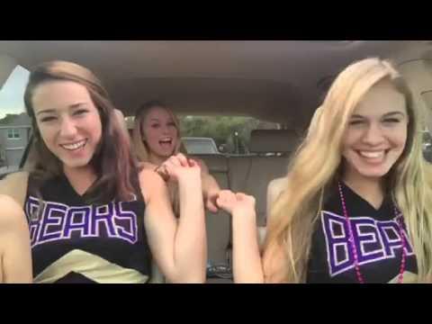 Cheerleader's car dance fails