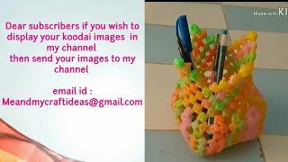 Plastic wire flowervase| plastic wire craft| plastic wire pen stand