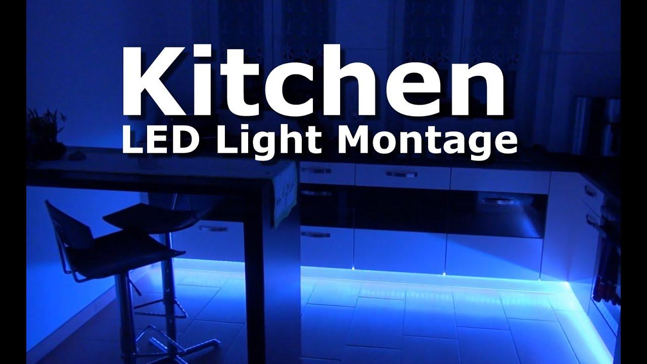 Kitchen Küche Bathroom Bad LED Light Montage - YouTube
