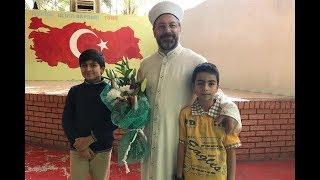 Diyanet İşleri Başkanı Prof. Dr. Ali Erbaş, Medine Uluslararası Türk Okulu'nu ziyaret etti. 2017 Video