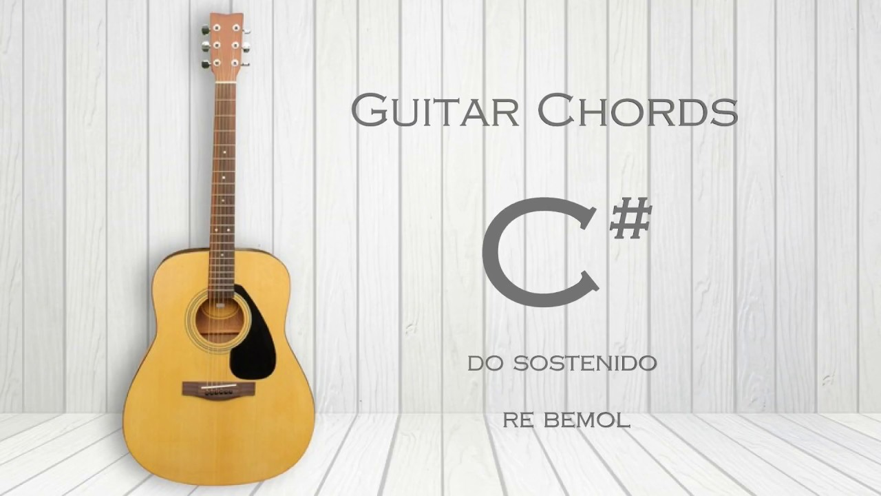 How To Play C Db Guitar Chord C Sharp D Flat Youtube