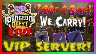 🔴 Dungeon Quest - L00t 4 Subs! ¡Llevamos! Servidor VIP // (Roblox) (2019) ?