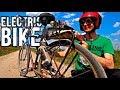 Homemade electric bike made of angle grinder??Make an electric bike yourself