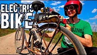Homemade electric bike made of angle grinder😄Make an electric bike yourself