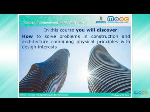 MOOC Curves: Introduction to Curves in Engineering and Architecture